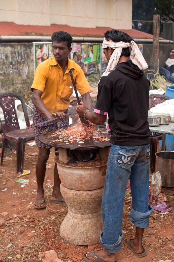 El alimento indio popular Chaat 2 de la calle foto de archivo