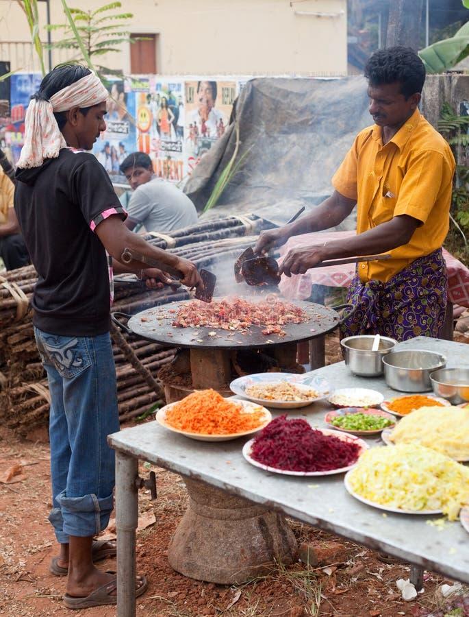 El alimento indio popular Chaat de la calle imágenes de archivo libres de regalías