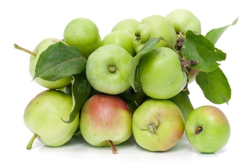 El alimento sano es las manzanas verdes fotografía de archivo libre de regalías