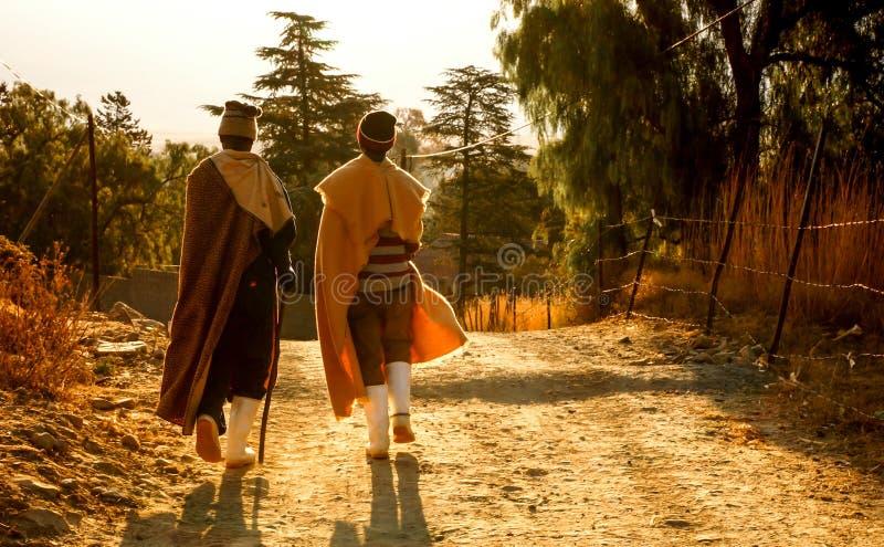 El alma de la gente de Lesotho fotografía de archivo