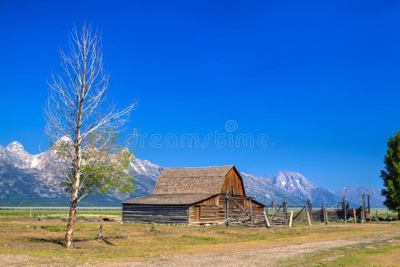 El almacén de T A El granero de Moulton es un granero histórico en Wyoming, Sta unido fotografía de archivo