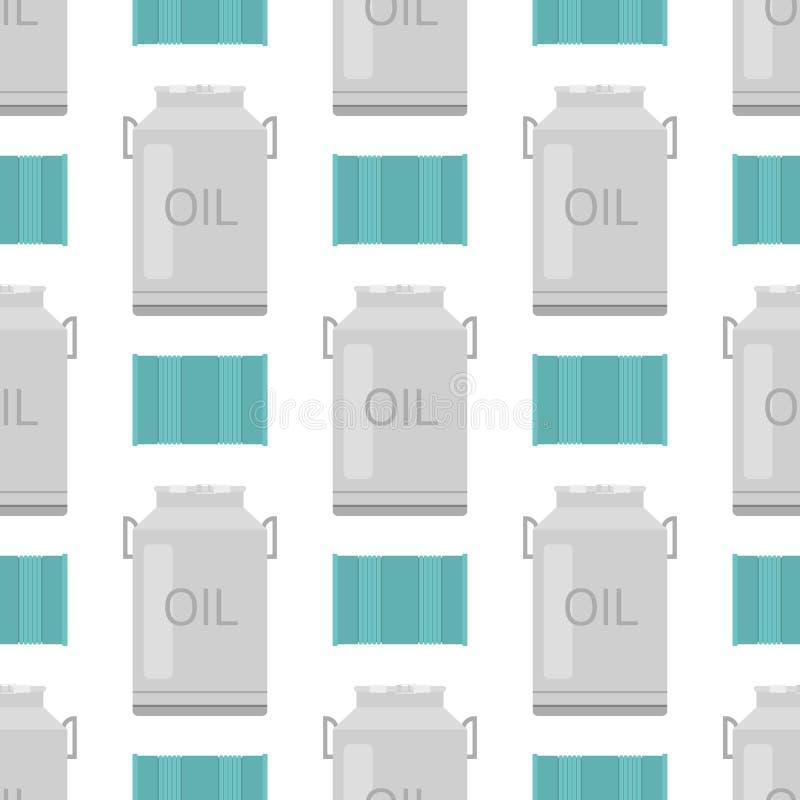 El almacenamiento del barril del combustible del envase de los bidones de aceite rema el fondo inconsútil del modelo de los intes ilustración del vector