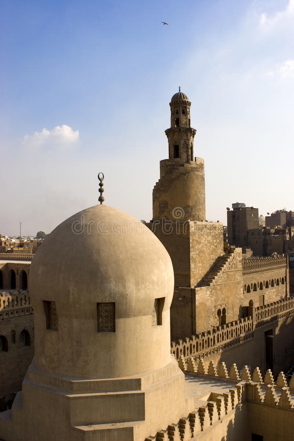 El alminar de Ibn Tulun fotografía de archivo
