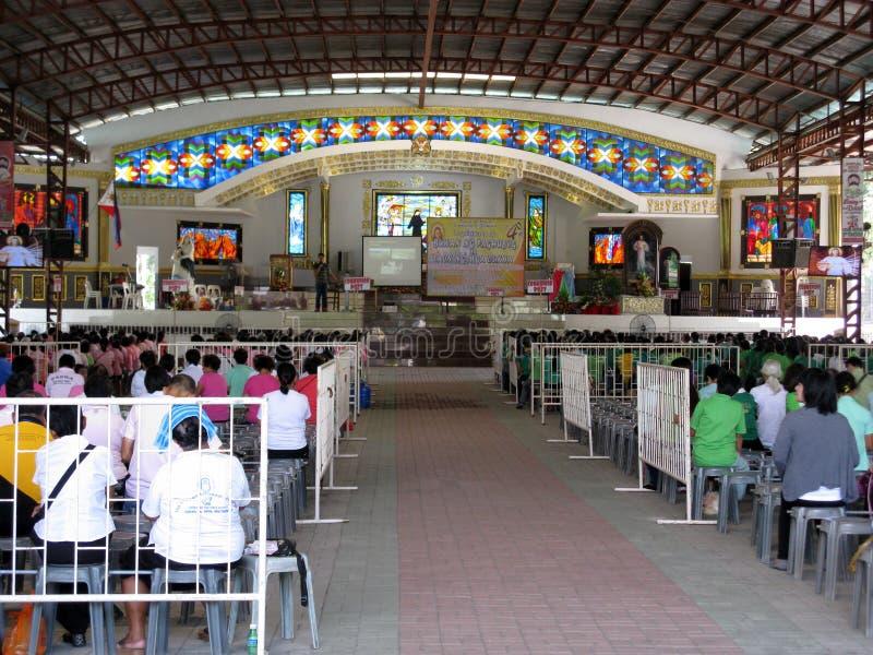 El altar al aire libre de la iglesia, capilla nacional de la misericordia divina en Marilao, Bulacan imágenes de archivo libres de regalías
