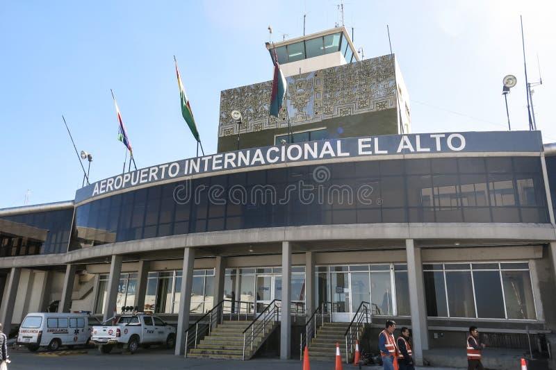 El Alto lotnisko międzynarodowe, Boliwia zdjęcia royalty free
