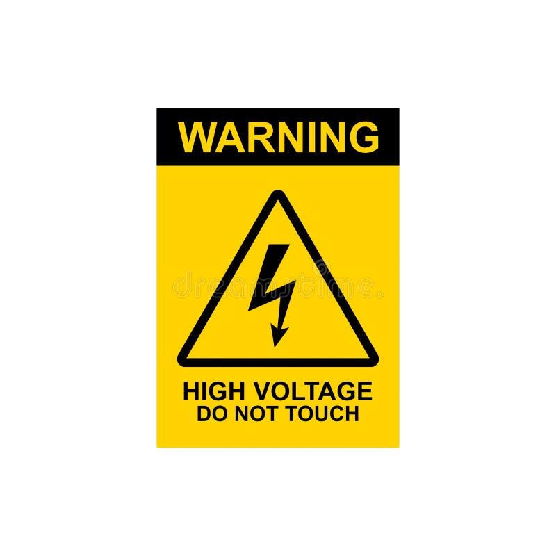 el alto voltaje de cuidado del vector común no toca la muestra 1 ilustración del vector