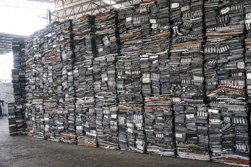 El aluminio para recicla fotografía de archivo libre de regalías