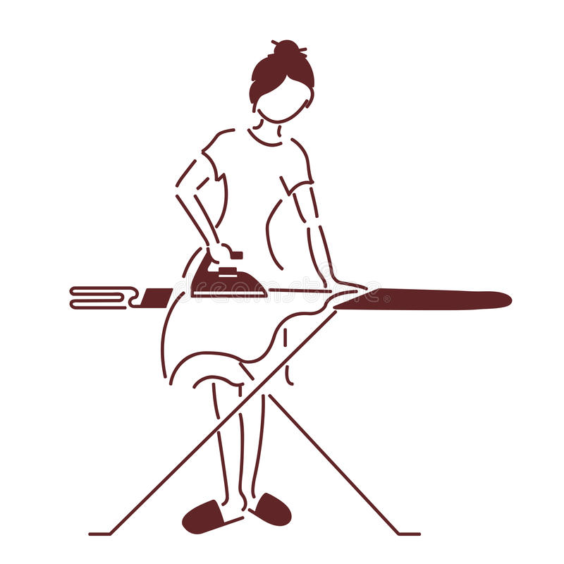 El ama de casa stock de ilustración