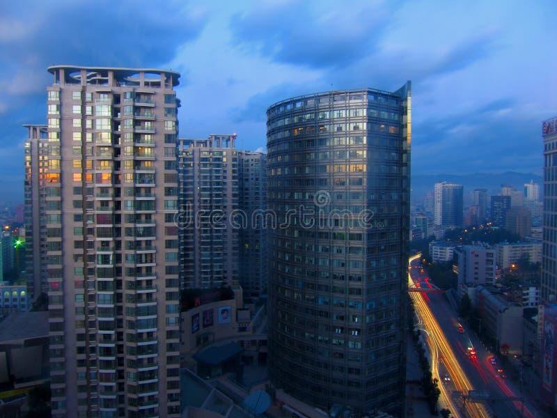 El amanecer de Kunming imagen de archivo