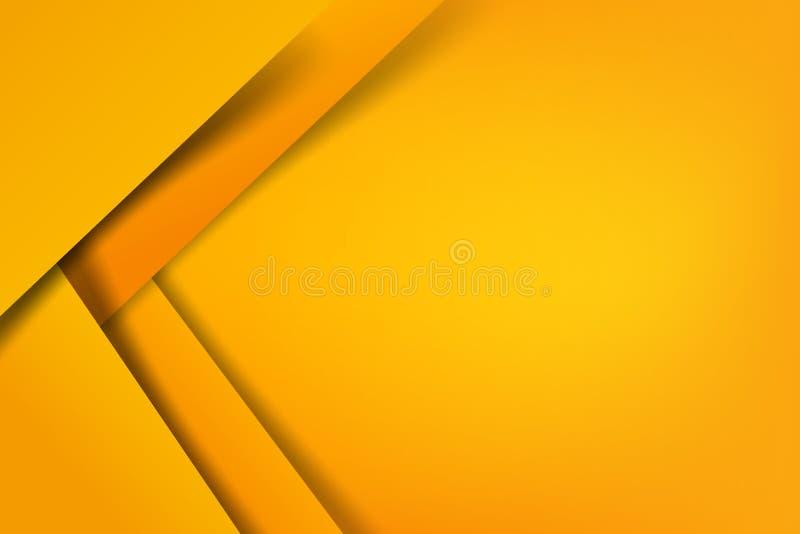 El amarillo abstracto del fondo acodó el ejemplo EPS 10 del vector stock de ilustración