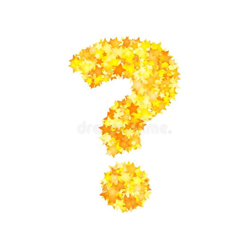 El amarillo del vector protagoniza la fuente, signo de interrogación libre illustration