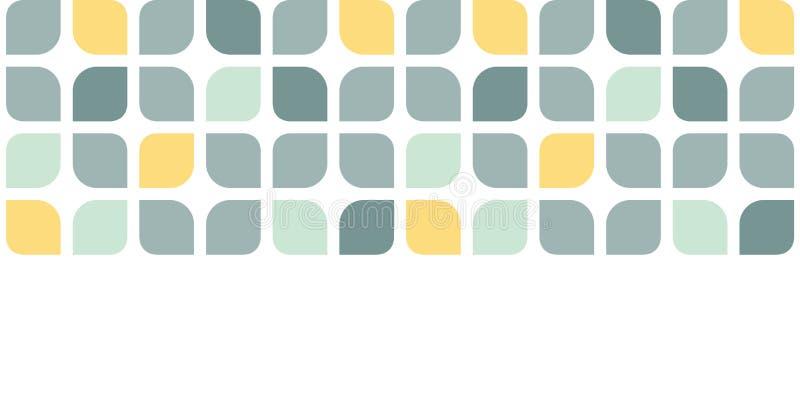 El amarillo gris abstracto redondeado ajusta horizontal ilustración del vector