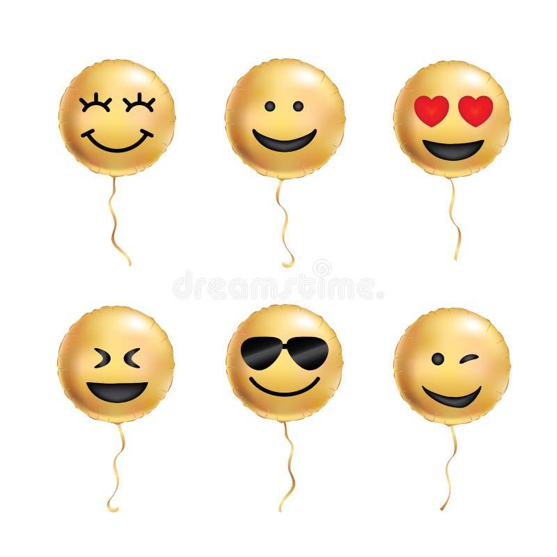 El amarillo hincha sonrisa fresca stock de ilustración