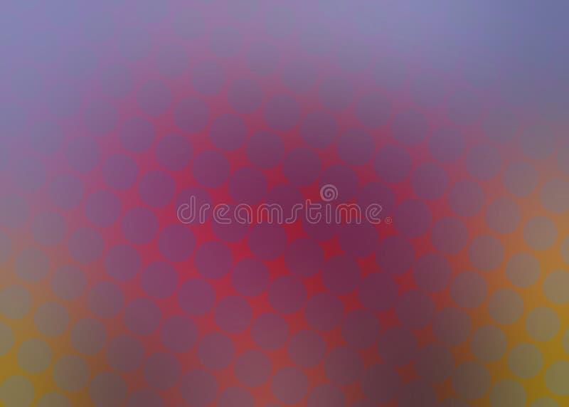 El amarillo púrpura rosado puntea el fondo stock de ilustración