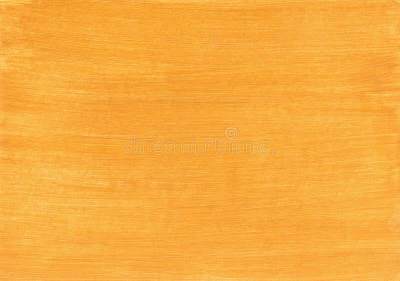 El amarillo pintó textura, el fondo y el papel pintado de madera ilustración del vector