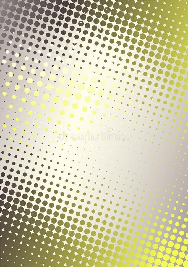 El amarillo puntea el fondo libre illustration