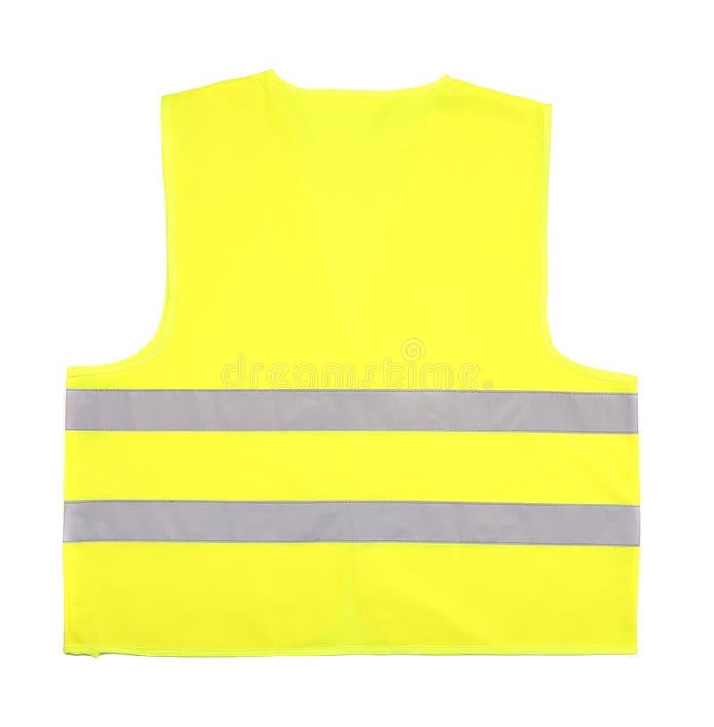 El amarillo recue el chaleco fotografía de archivo libre de regalías