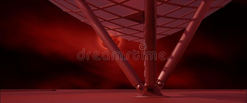 El ambiente del espacio listo para los comp de sus caracteres 3D rinde ilustración del vector