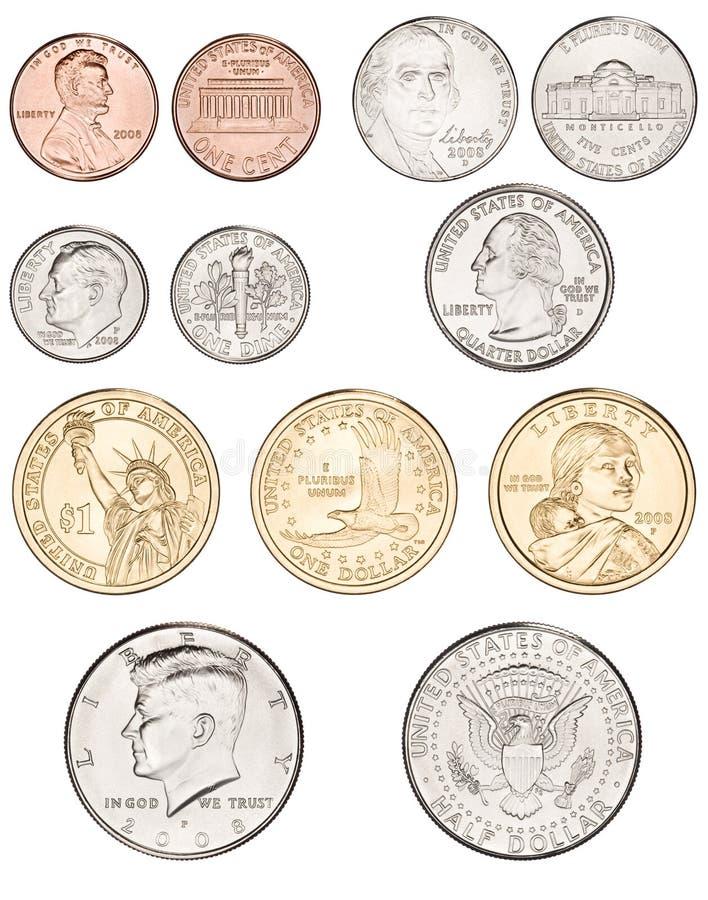 El americano acuña el dinero imagen de archivo libre de regalías