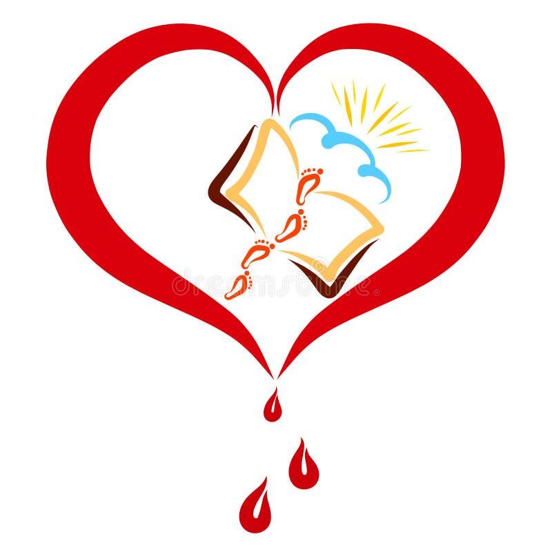El amor de Cristo y la palabra de dios abrir la manera en el cielo libre illustration