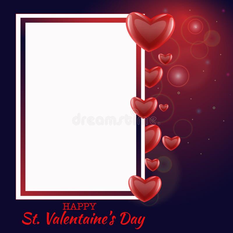 El amor del d?a de la tarjeta del d?a de San Valent?n s y el fondo de la venta de las sensaciones dise?an Ilustraci?n EPS10 del v ilustración del vector