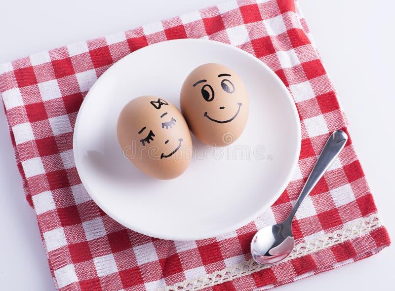 El amor eggs pares foto de archivo