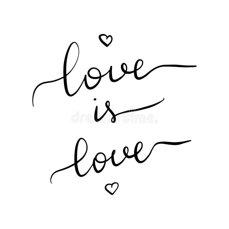 El amor es amor Inscripción de las letras libre illustration