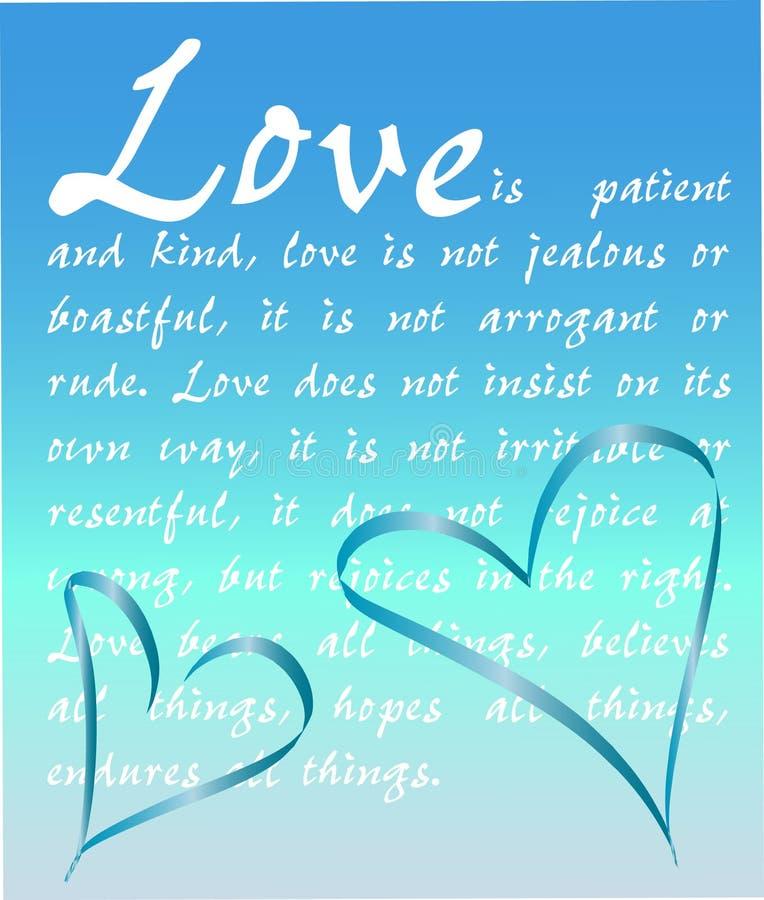 El amor es paciente ilustración del vector