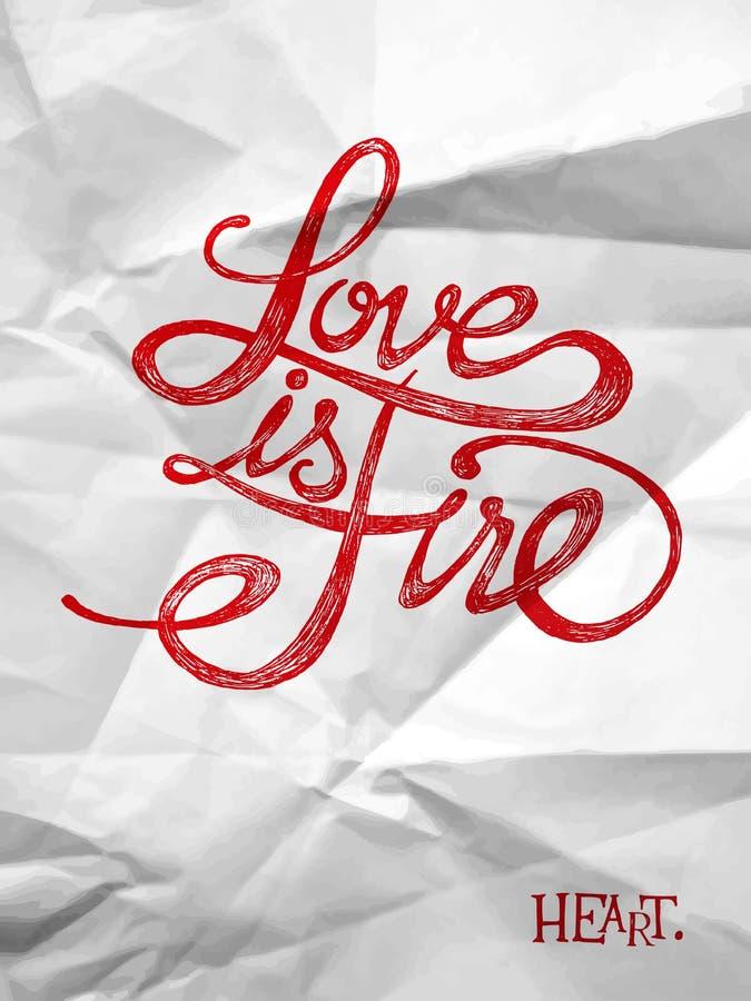 El amor es un fuego libre illustration