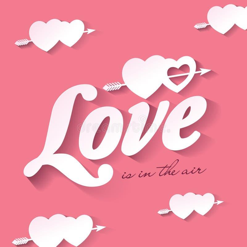 El amor está en el aire stock de ilustración