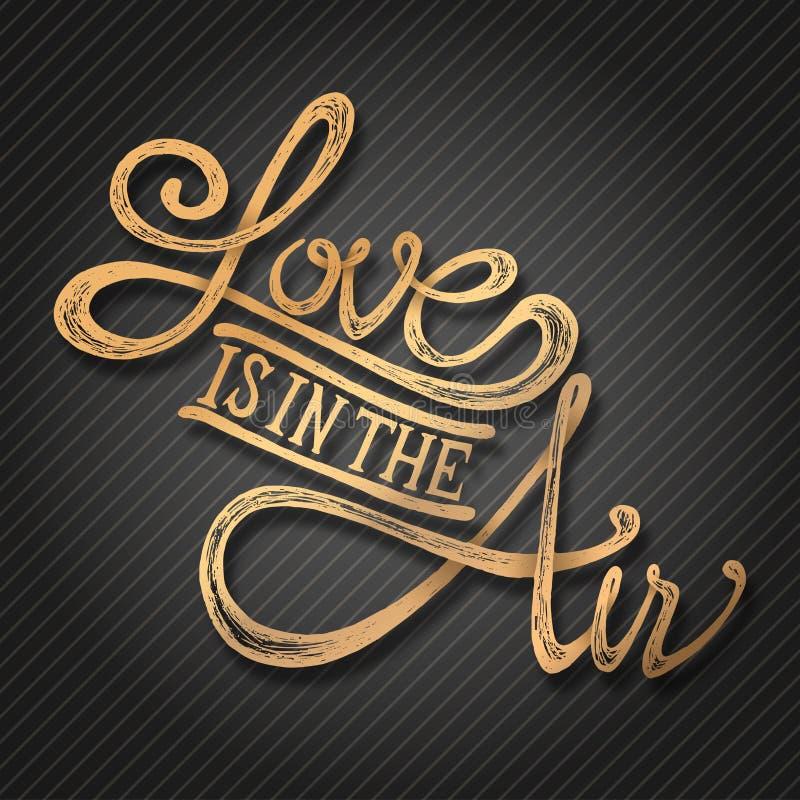 El amor está en el aire - frase stock de ilustración