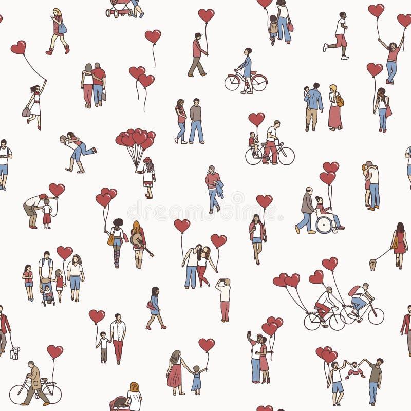El amor está todo alrededor ilustración del vector