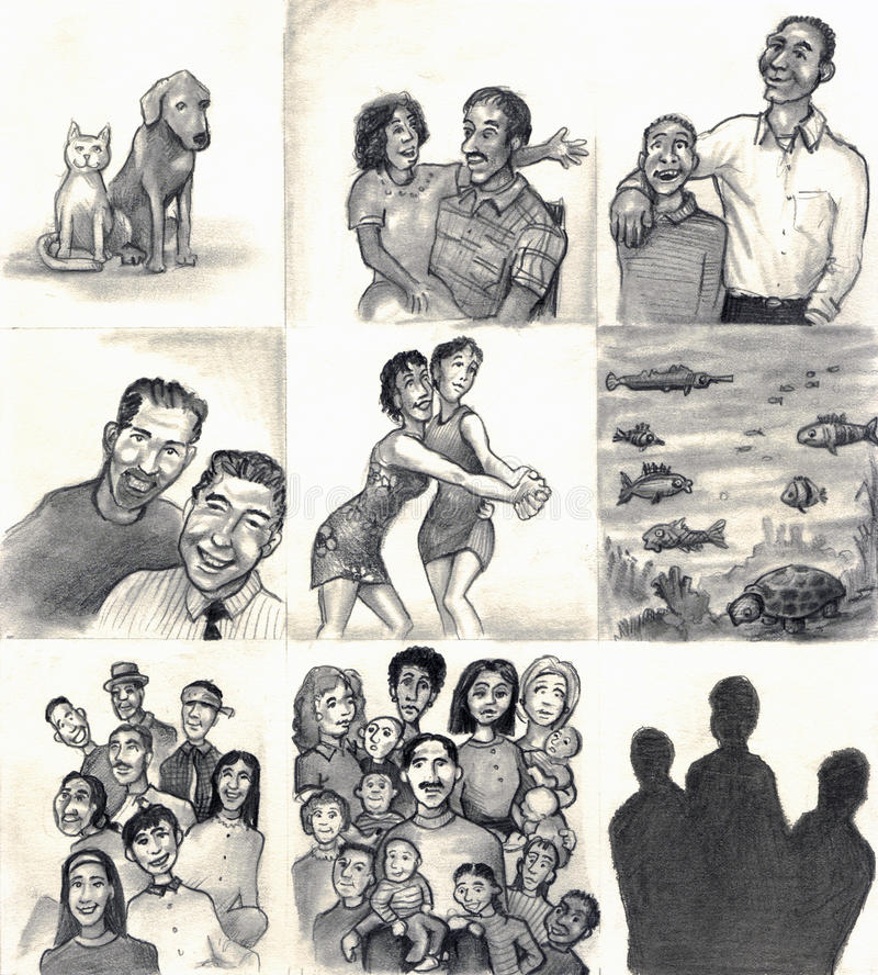El amor hace a una familia libre illustration