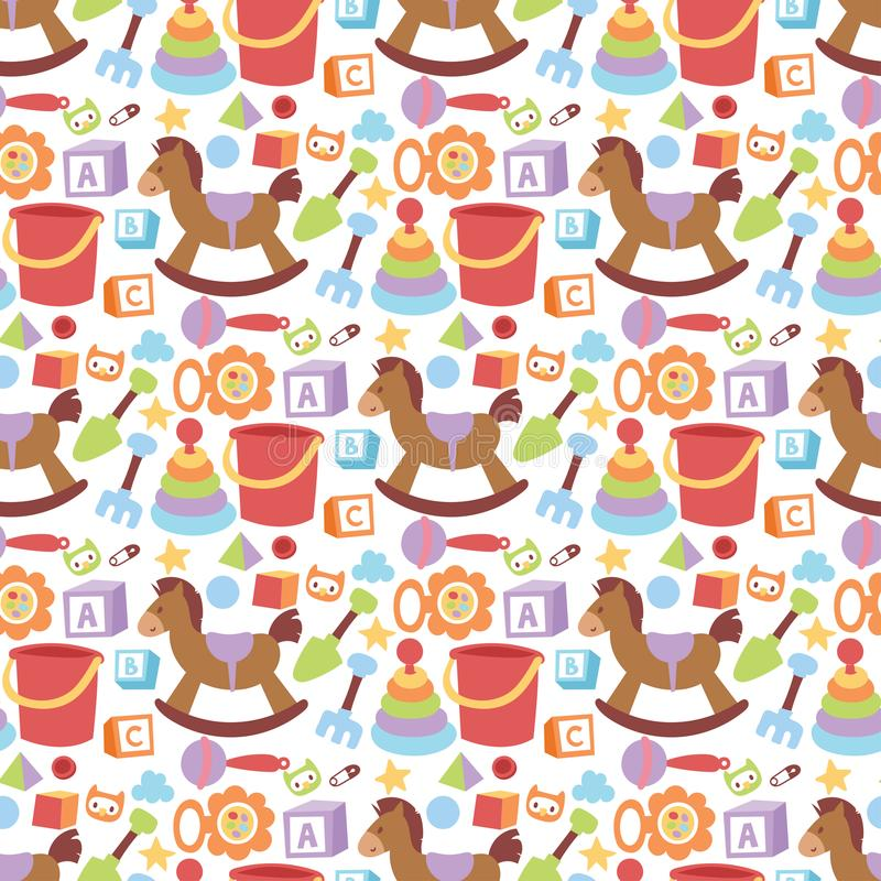El amor lindo del pañal del arte de la niñez del muchacho y de la muchacha del diseño de la juguetería del niño de la familia de  stock de ilustración