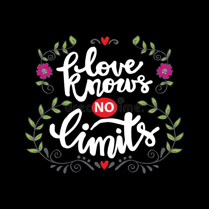 El amor no conoce ningún límite stock de ilustración