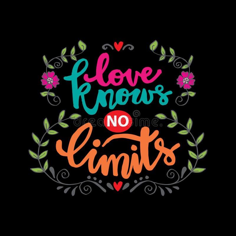 El amor no conoce ningún límite libre illustration