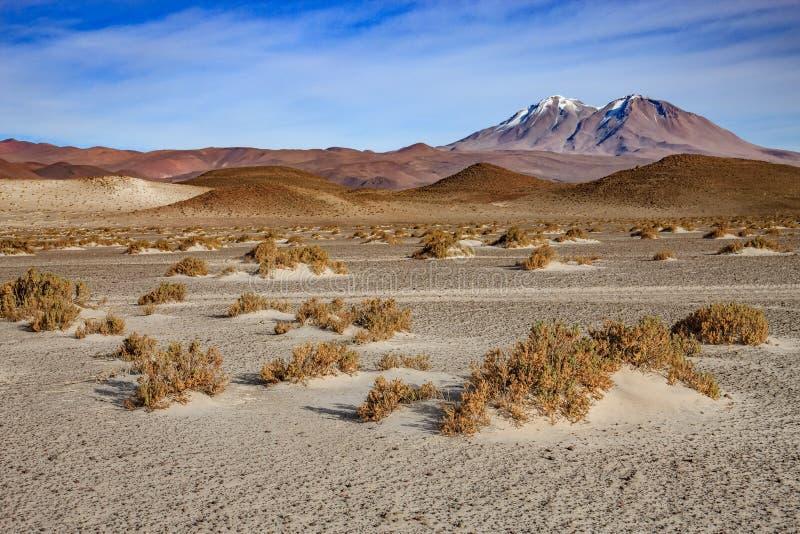 El Amphitheatre es formaci?n geol?gica hermosa de valle de la luna en el desierto de Atacama, Chile foto de archivo