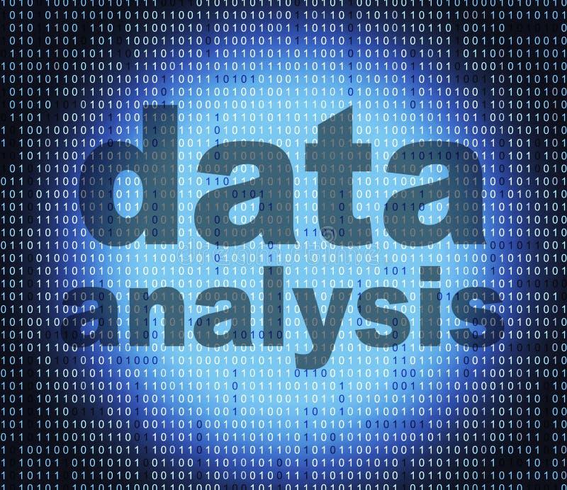 El análisis de datos indica hechos del hecho y los analiza libre illustration