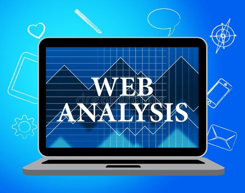 El análisis del web muestra Analytics y al analista de los datos stock de ilustración