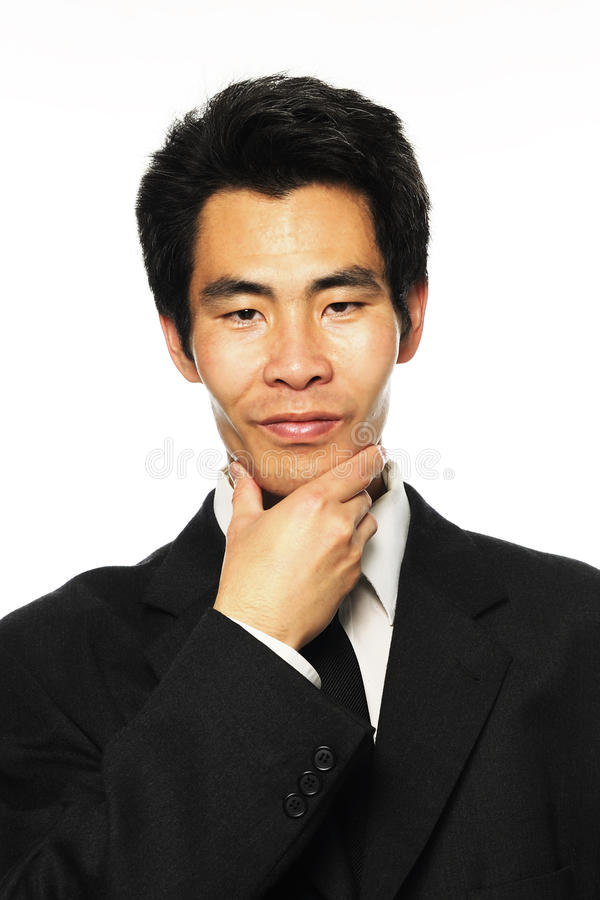 El analizar asiático del hombre de negocios fotos de archivo