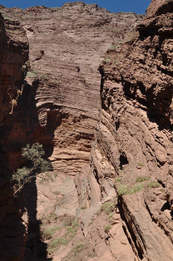 El EL Anfiteatro el anfiteatro es una formación de roca en Quebrada de las Conchas en la región de Cafayate, provincia de Salta imagen de archivo