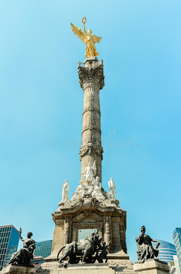 El Angel, Mexico`s Monument of Independence royalty free stock images