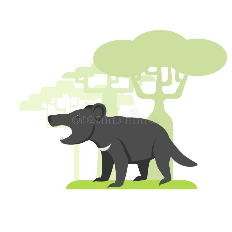 El animal llamó al diablo tasmano libre illustration