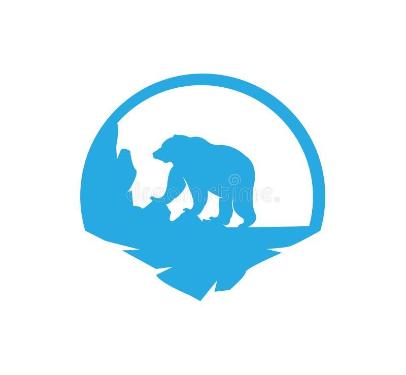 el animal refiere diseño del logotipo del ejemplo del vector de la tierra del parque stock de ilustración