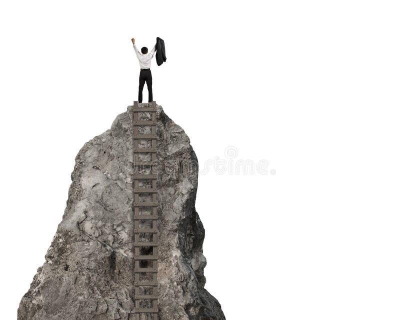 El animar encima de la colina rocosa fotografía de archivo libre de regalías