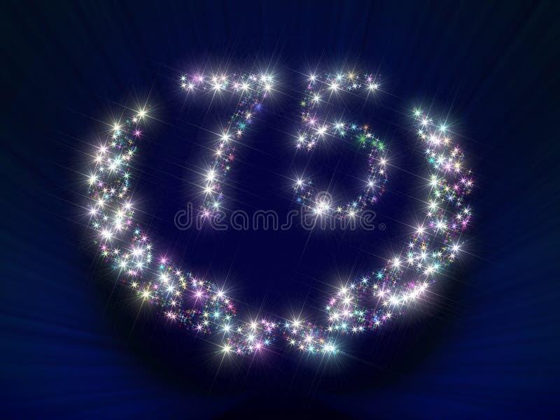 El aniversario Stars el número 75 stock de ilustración
