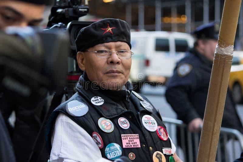 El Anti-triunfo republicano de la gala 2016 protesta NYC imagen de archivo