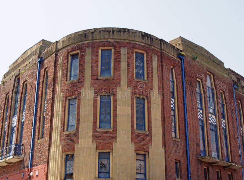 El antiguo edificio de teatro garrick en lord street en el sur de Puerto, un ejemplo de diseño Art Déco de los años 30 imagen de archivo