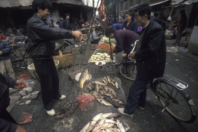 EL ANTIGUO MERCADO CIUDAD DE CHINA XIAN fotos de archivo