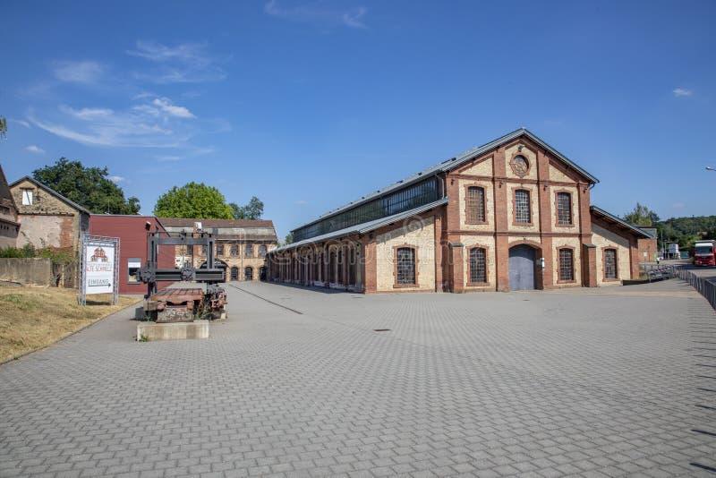 el antiguo salón de la industria al final de Schmelz fue convertido en un lugar de eventos imágenes de archivo libres de regalías